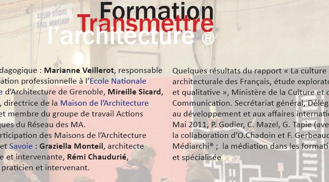 """Caroline Mazel à la formation """"Transmettre l'architecture"""""""
