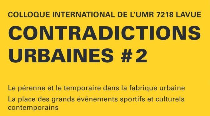 Caroline Chabot au colloque international de l'UMR LAVUE | 6/12/2019
