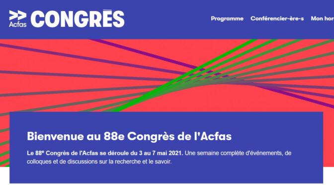l'équipe «habitat et vieillissement» au congrès de l'aCfas | 3-7/05/2021