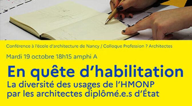 conférence de Fabien Reix | enquête nationale hmonp | 19/10/2021